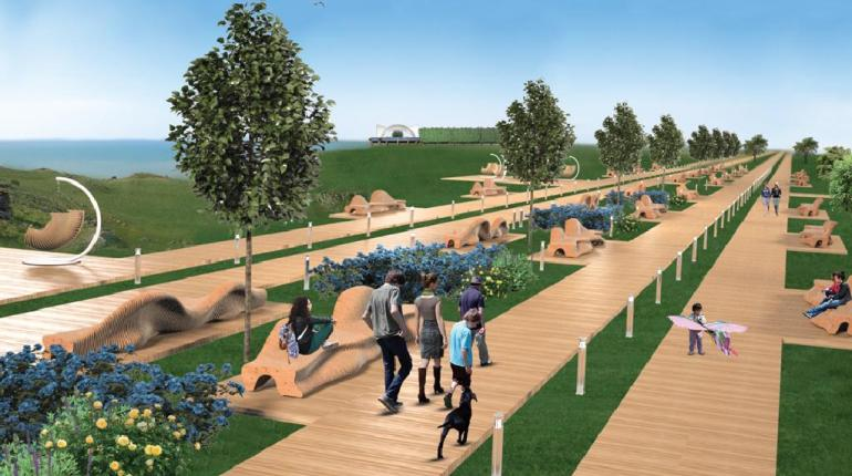 Дизайн-проект благоустройства территории мыса Фиолент с разработкой  предметно-пространственного комплекса